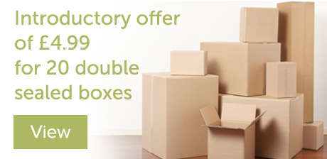 Special offer on cardboard boxes Glasgow at Ferrari Packaging supplies Glasgow