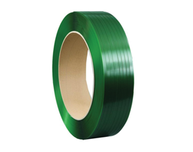 Corded polyester strapping, polyester strapping kit, and strapping protectors
