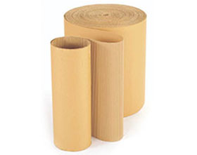 Corrugated card roll and brown packing paper for sale.