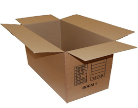 BDCM single wall wholesale boxes for sale at Ferrari Packaging.