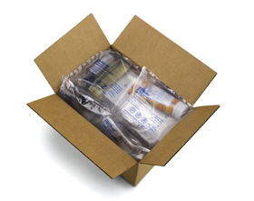 Inflatable bottle packaging, bubble mailers and more available