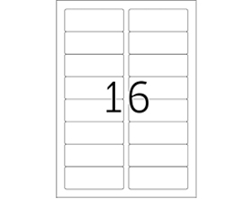 2 Up A4 Label Sheets (500 sheets/pack)