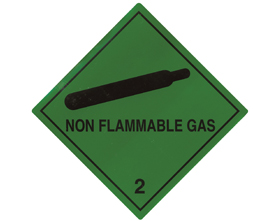 Flammable Gas Warning Labels (250/roll)