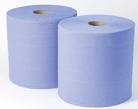 2-ply Blue Industrial Wiper Rolls