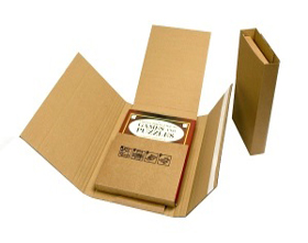 CORRUGATE BOOK WRAP 325X250X80MM C4 20/PACK