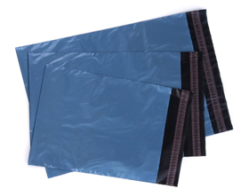 Blue Opaque Mailer Bags (242mm x 346mm + 40mm)